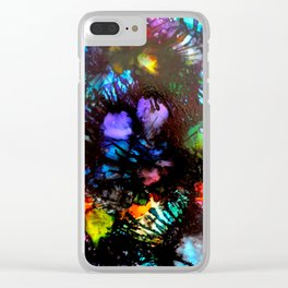 Colourful Sea Urchins Clear iPhone Case