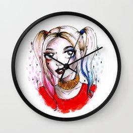 harley quinn fan art Wall Clock