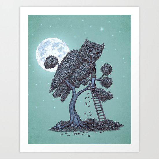 The Night Gardener  Art Print