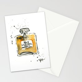 perfume no5 Stationery Cards