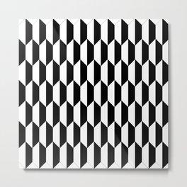 Black Quadrilateral - Baby Stimulation Pattern Metal Print