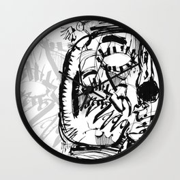 The Scholar - b&w Wall Clock