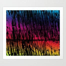 Rainbow Grunge Art Print