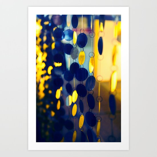 GLAM CIRCLES #Blue #1 Art Print
