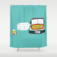 dad Shower Curtains featuring Dad Luv by MaJoBV