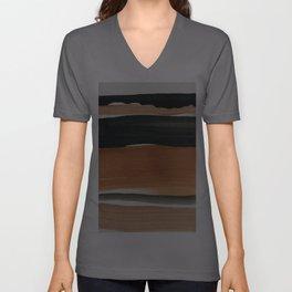 abstract minimal 12 Unisex V-Ausschnitt