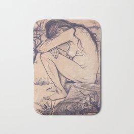 Sorrow by Vincent van Gogh, 1882 Bath Mat