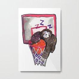 sloth playing basket Metal Print