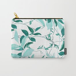 fresh green leaf pattern Carry-All Pouch