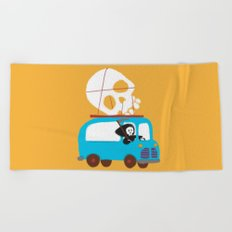 Death on wheels Beach Towel