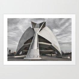 City of Arts and Sciences I | C A L A T R A V A | architect | Art Print