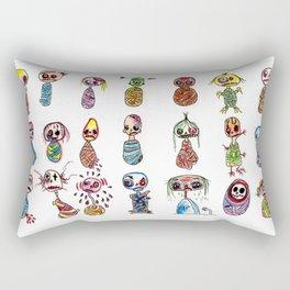 Collection of mummies Rectangular Pillow