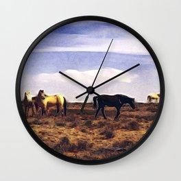 Horses in Arizona Wall Clock