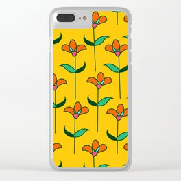 Genevieve - Yellow Clear iPhone Case
