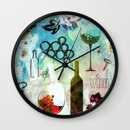 Abstract Wine Background Wall Clock