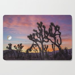 Colorful Sunset in Joshua Tree National Park Cutting Board
