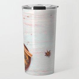 spices blue background Travel Mug