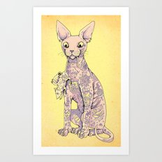 Cattoo Art Print