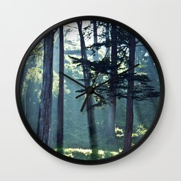 Trees In The Fog Wall Clock