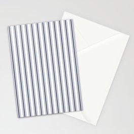 Dark Sargasso Blue Mattress Ticking Wide Striped Pattern - Fall Fashion 2018 Stationery Cards