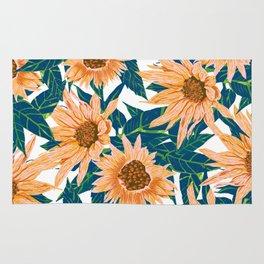 Blush Sunflowers Rug