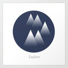 Explore/Mountains Art Print