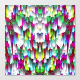 Colorful digital art splashing G396 Canvas Print