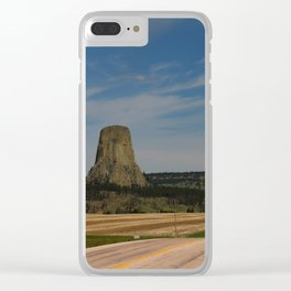 Road To Devils Tower Clear iPhone Case