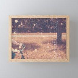 Summer Evening Bike Ride Framed Mini Art Print
