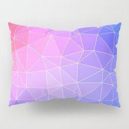 Abstract Colorful Flashy Geometric Triangulate Design Pillow Sham