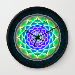 Round mandala pattern of soft colors. Lotus flower Wall Clock