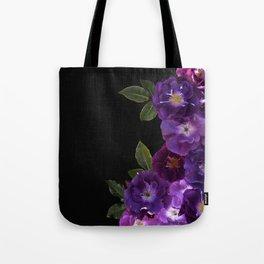 Beautiful Dark Purple Vintage Roses Frame Tote Bag