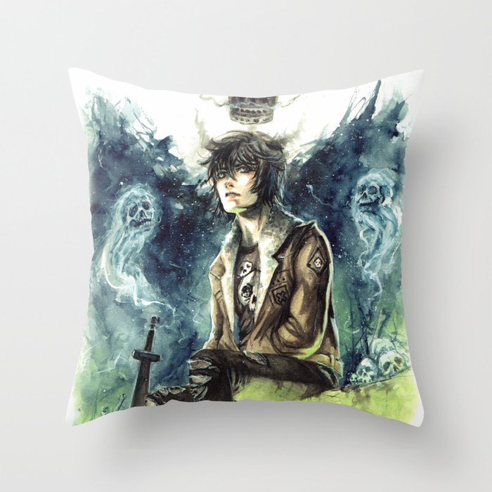 Nico Di Angelo Son Of Hades Throw Pillow By Akimao Society6