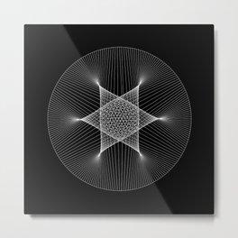 Earth : Moon - Black Metal Print