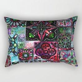 Galaxy Tile Pattern Rectangular Pillow