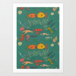 Fishy Kisses Art Print