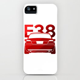 BMW E38 - classic red - iPhone Case
