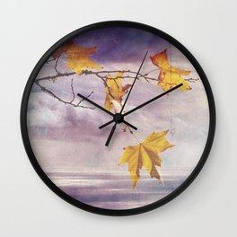 Faded Leaves - JUSTART © Wall Clock
