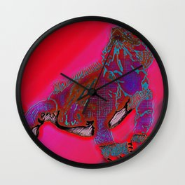 Hot Goanna Wall Clock