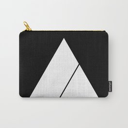 Triangle Minimal Deep Cut Black Carry-All Pouch