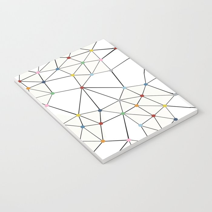 Seg with Color Spots White Notebook