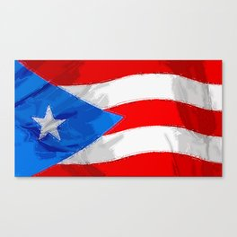 Puerto Rico Fancy Flag Canvas Print