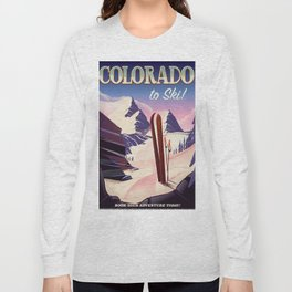 Colorado Ski print Long Sleeve T-shirt