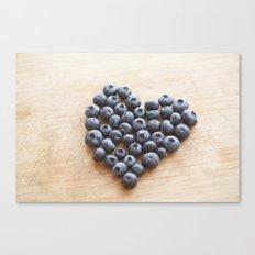 Blueberry Heart Canvas Print