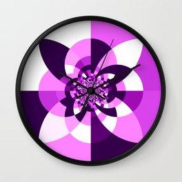 Purple Kaleidoscope Mandala Wall Clock