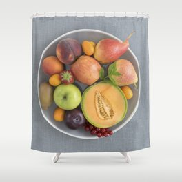 Fruits on a plate Shower Curtain