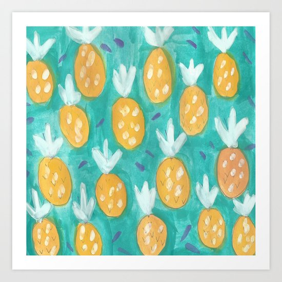 Fresh Pineapples Art Print