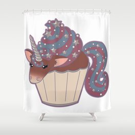 Cupcake Unicorn! Shower Curtain