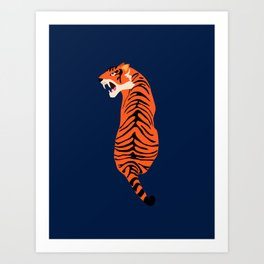 Tiger dark background Art Print