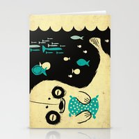 seal Stationery Cards featuring Panda Seal by Pigologist